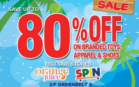 Orange Juice & Spin Kids Craze Summer Sale @ Greenbelt 5 April - May 2015