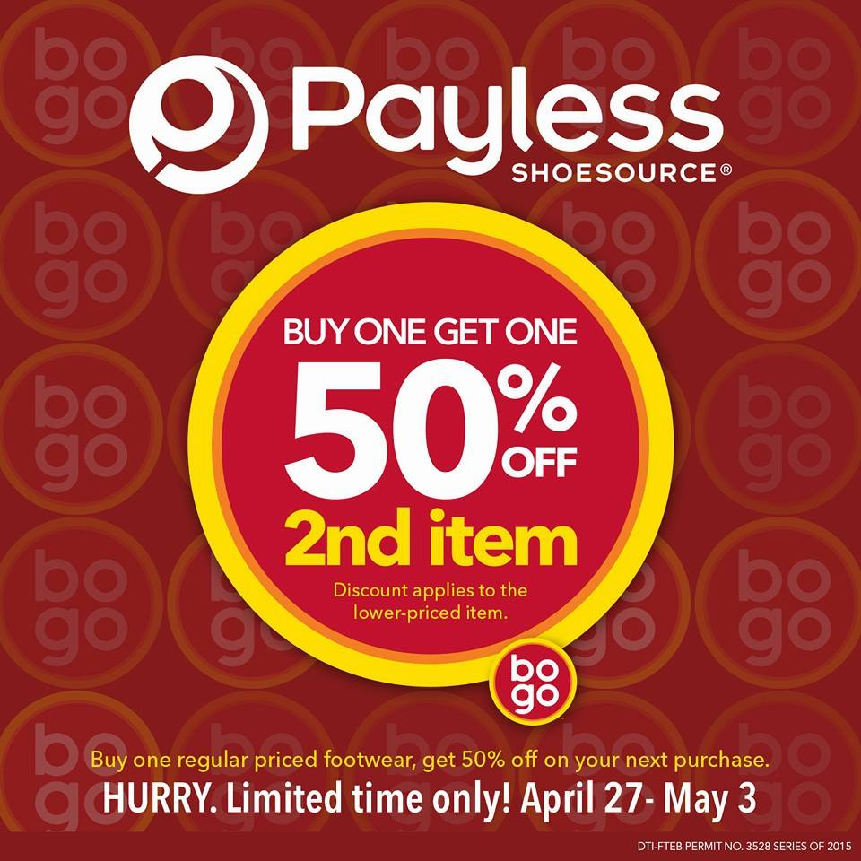 Payless Shoesource Buy 1 Get 50 Off Promo April 2015