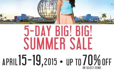 SM Mall of Asia Big Big Summer Sale April 2015