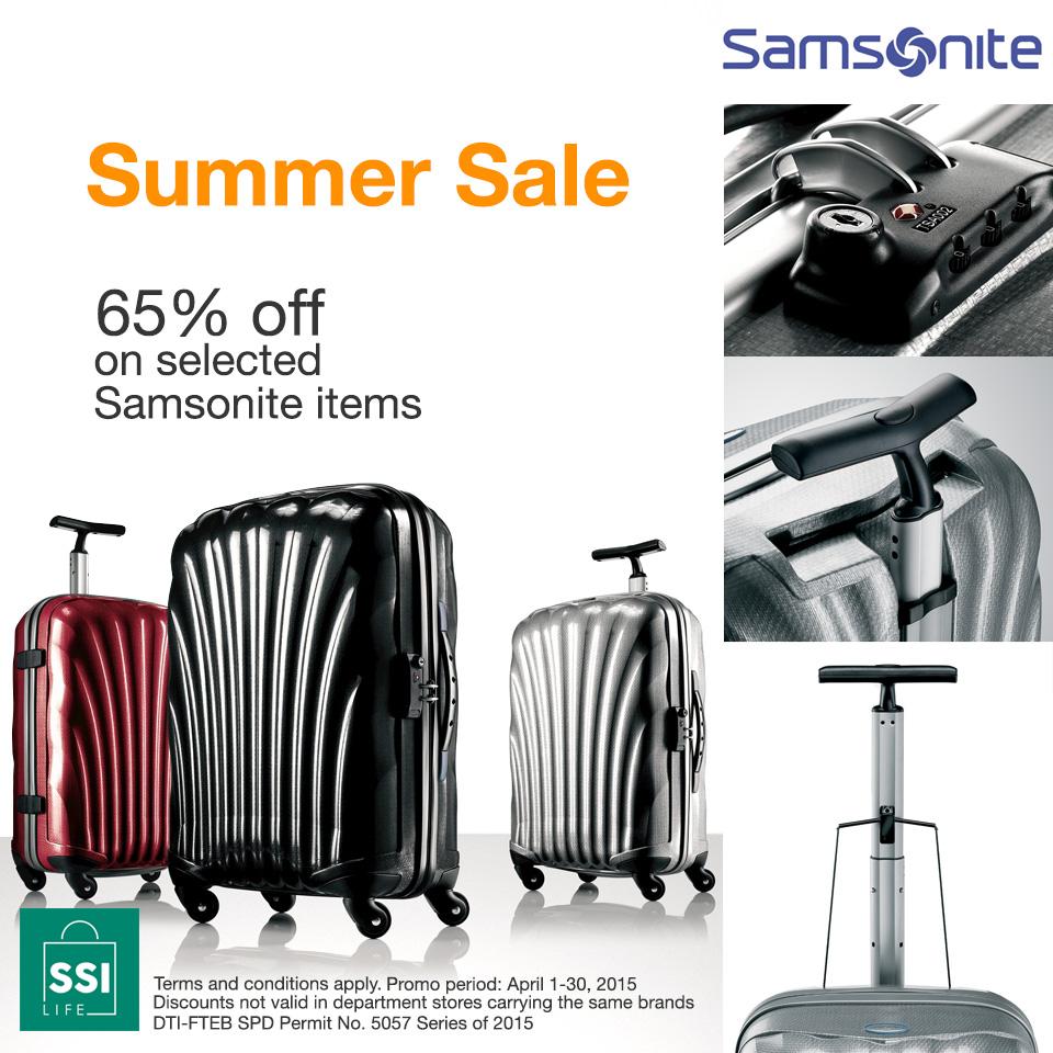 Samsonite Summer Sale April 2015