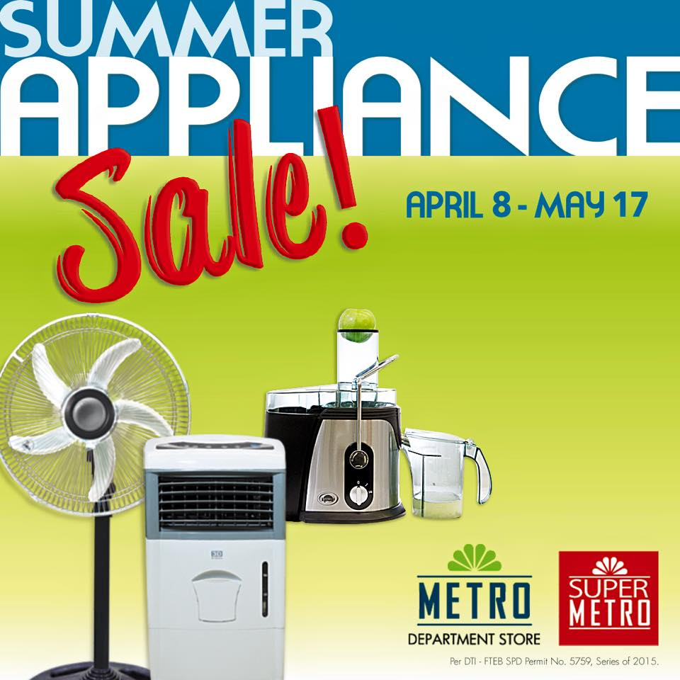 The Metro Stores Summer Appliance Sale April 2015
