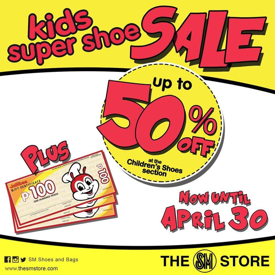 The SM Store Kids Super Shoe Sale April 2015