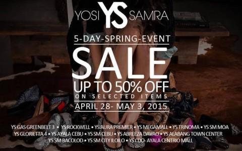 Yosi Samra Spring Sale April - May 2015