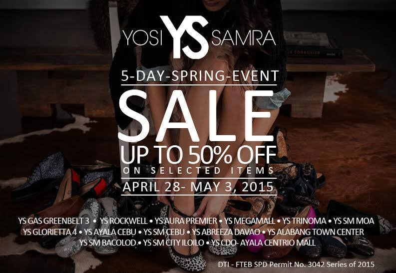 Yosi Samra Spring Sale April - May 2015