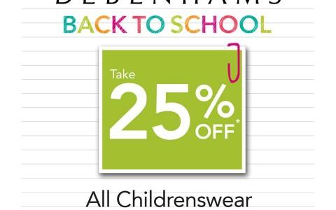 Debenhams Childrenswear Sale May 2015