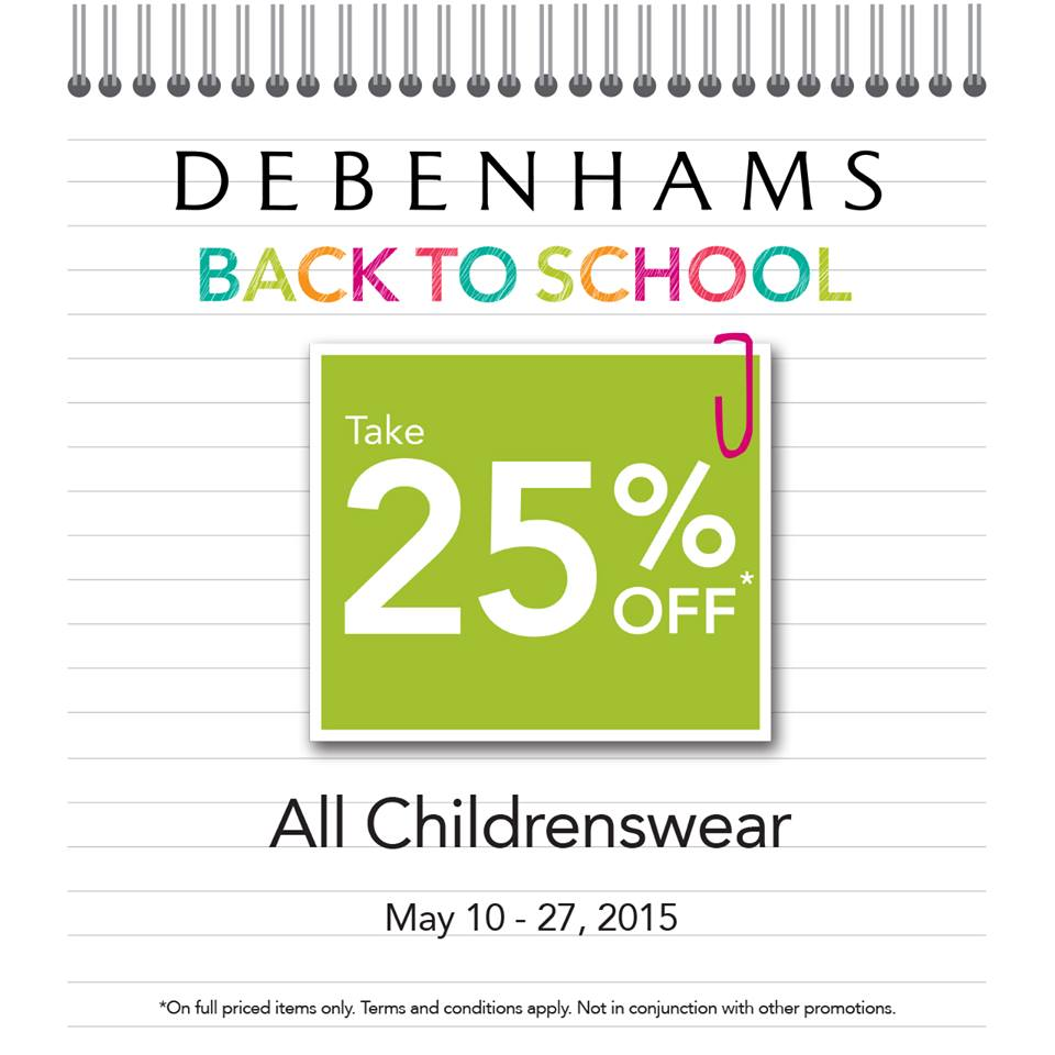 Debenhams Childrenswear Sale May 2015