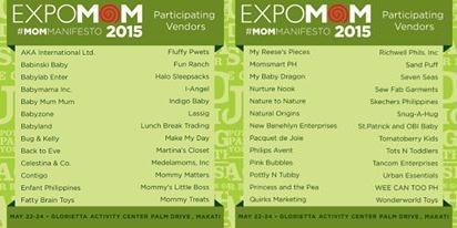 Expomom 2015 Participating Vendors