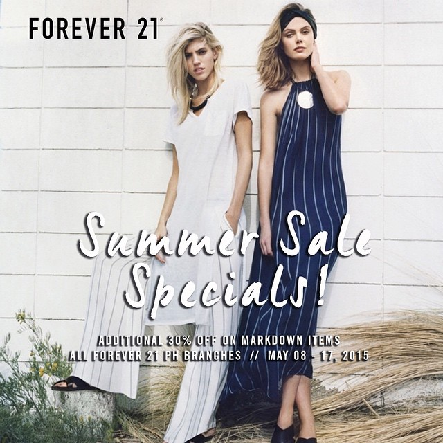 Forever 21 Summer Sale Specials May 2015