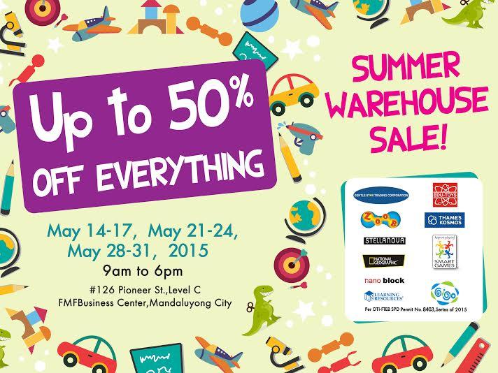 GST Summer Warehouse Sale @ FMF Business Center May 2015