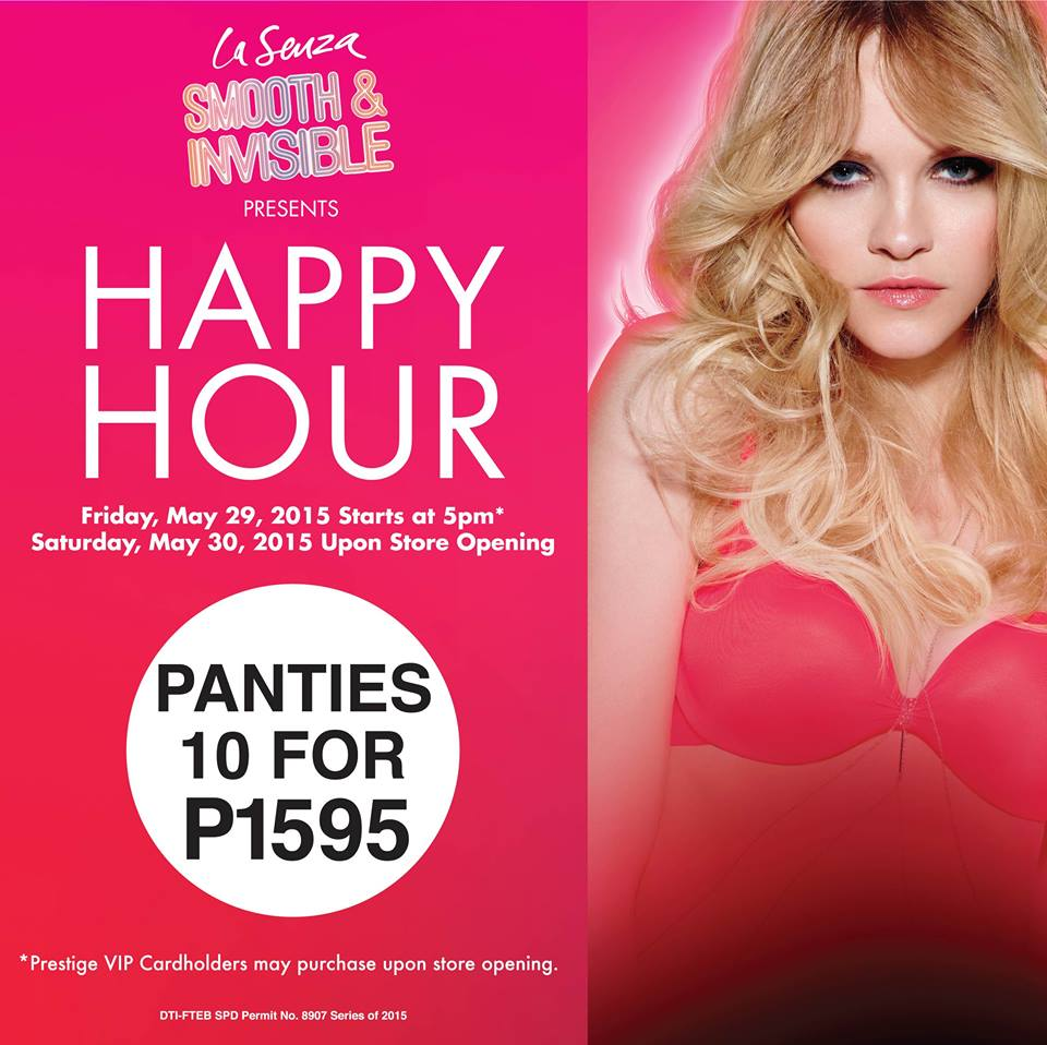 La Senza Happy Hour Sale May 2015