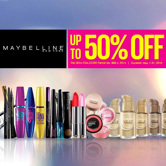 Maybelline May Makeup Madness Sale May 2015