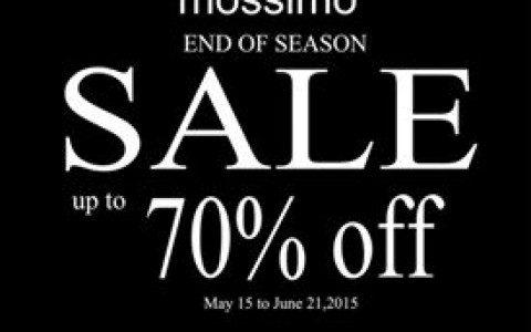 Mossimo End of Season Sale May - June 2015