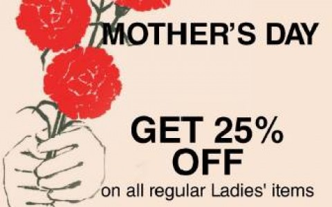 Muji Mother's Day Sale May 2015