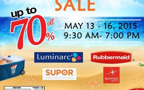 Orient Warehouse Sale (Rubbermaid, Supor, Luminarc) May 2015