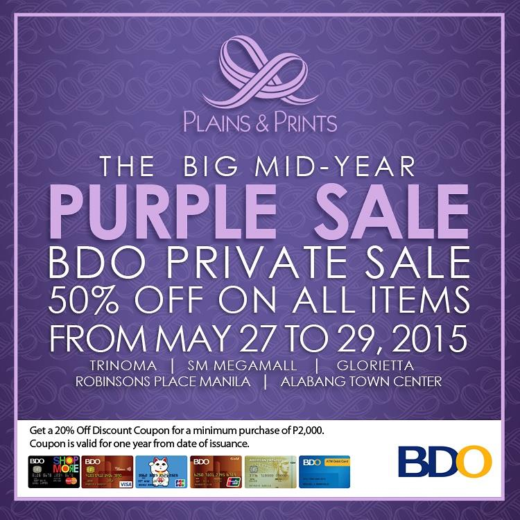 Plains & Prints BDO Private Sale May 2015