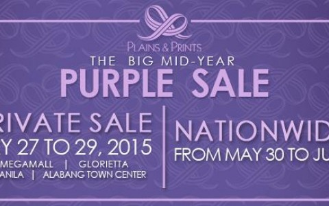 Plains & Prints The Big Mid-Year Purple Sale May - June 2015