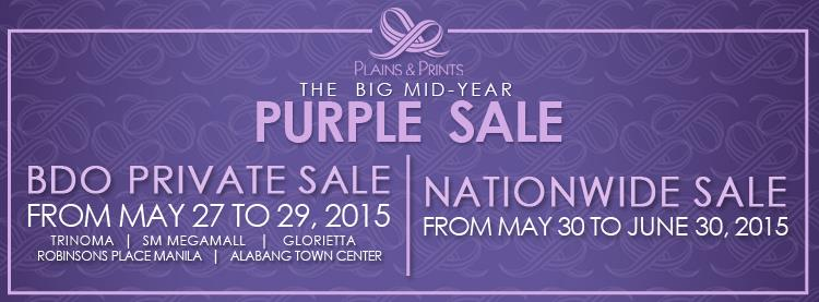Plains & Prints The Big Mid-Year Purple Sale May 2015