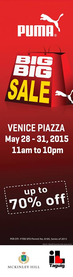 Puma Big Big Sale @ Venice Piazza, Mckinley Hill May 2015