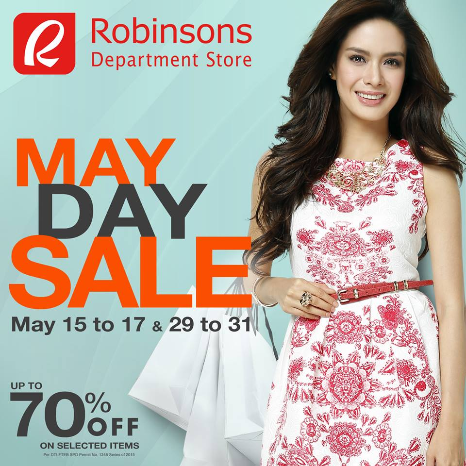 Robinsons Department Store May Day Sale May 2015