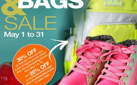 Robinsons Department Store Shoes & Bags Sale May 2015