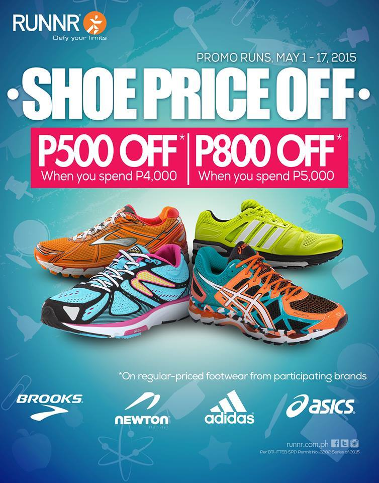 Runnr Shoe Price Off Promo May 2015
