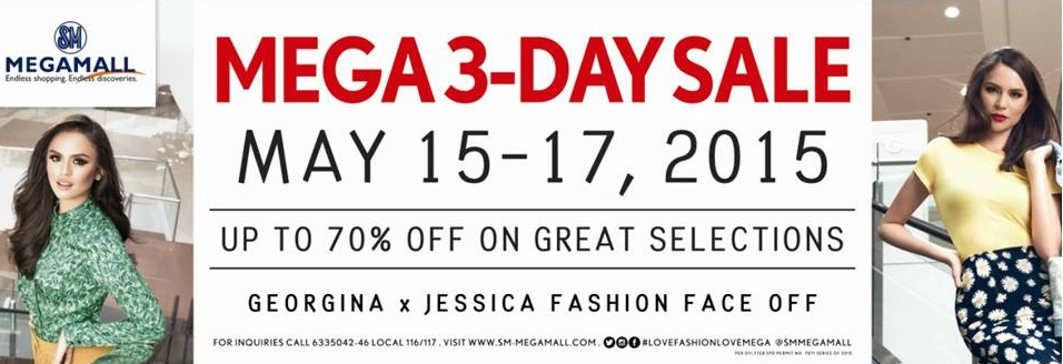 SM Megamall Mega 3-Day Sale May 2015