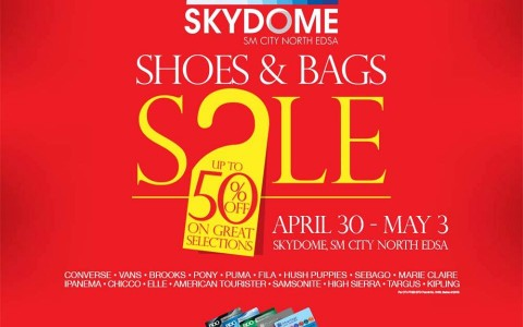 Shoes & Bags Sale @ Skydome SM City North Edsa April - May 2015
