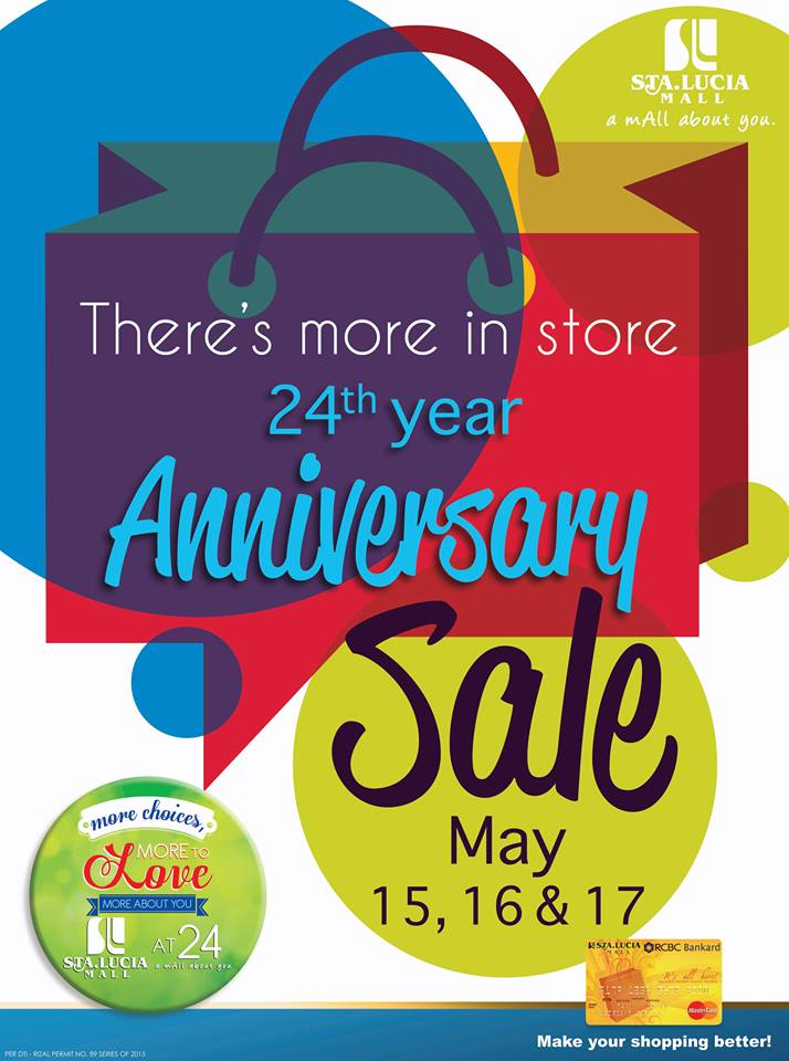 Sta. Lucia Mall Anniversary Sale May 2015