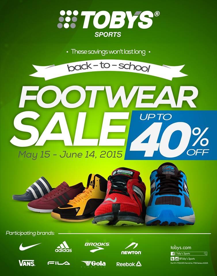 Toby's Sports Back To School Footwear Sale May - June 2015