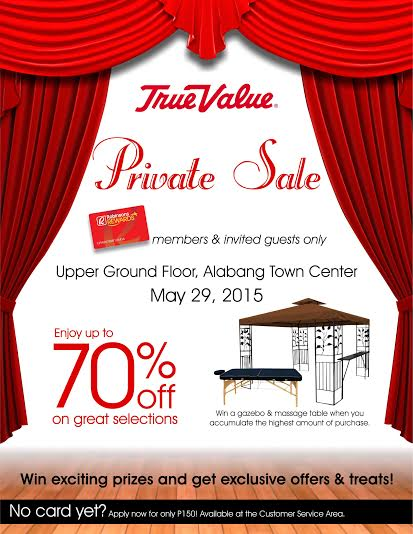 True Value Private Sale @ Alabang Town Center May 2015