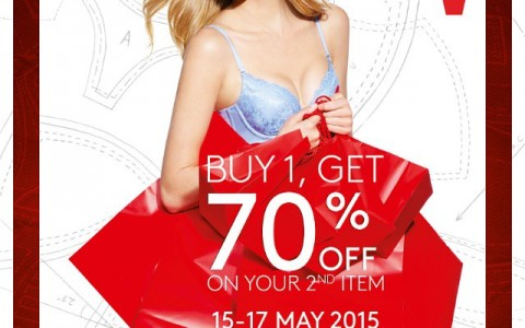 Truimph Buy 1 Get 70 Off on 2nd item May 2015