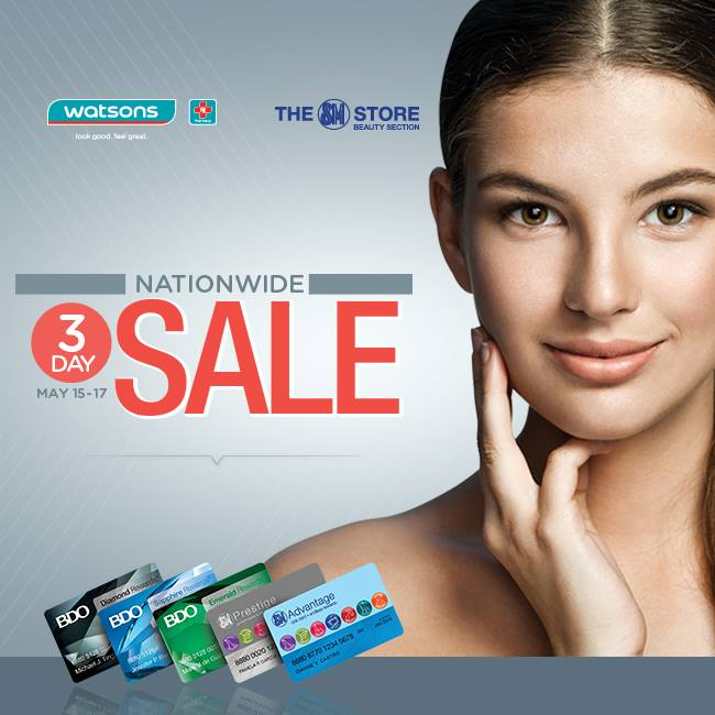 Watsons Nationwide 3-Day Sale May 2015