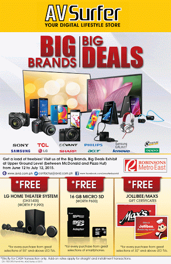 AV Surfer Big Brands Big Deals @ Robinsons Metroeast June 2015