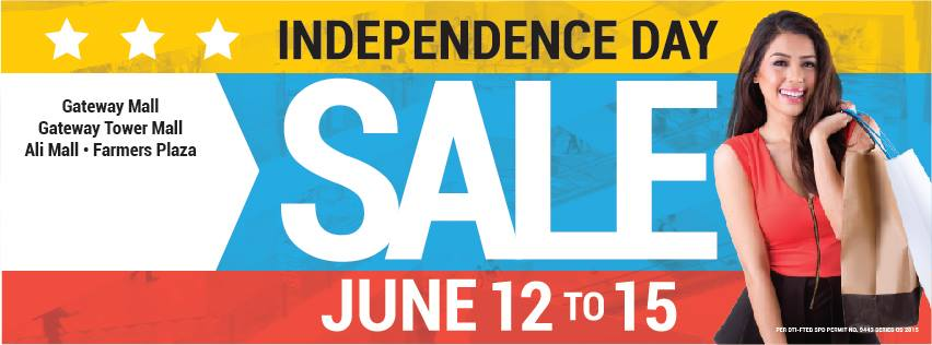 Araneta Center Independence Day Sale June 2015