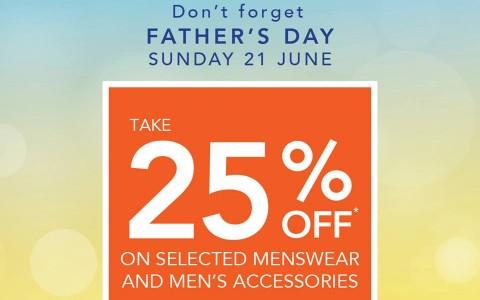 Debenhams Father's Day Sale June 2015