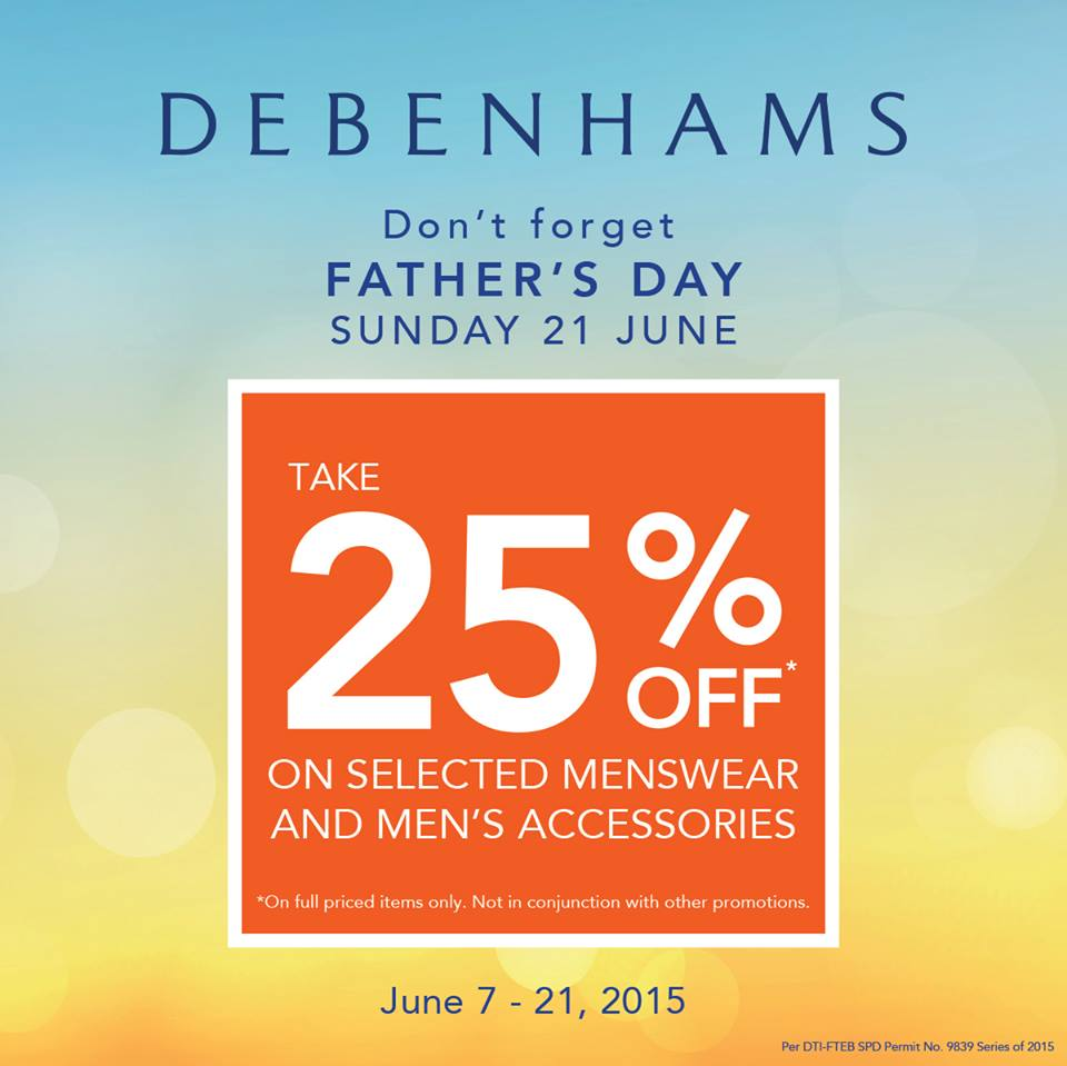 Debenhams Father's Day Sale June 2015