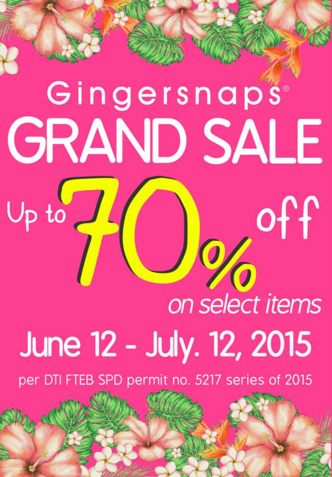 Gingersnaps-Sale-2015-poster