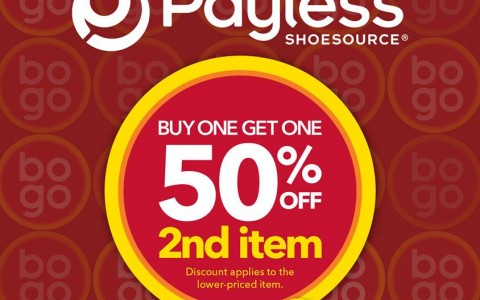 Payless Shoesource Buy One Get 2nd Item at 50 off June 2015