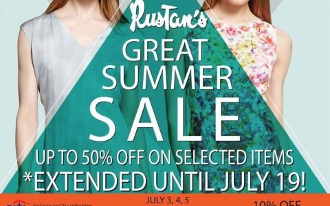 Rustan's Great Summer Sale July 2015