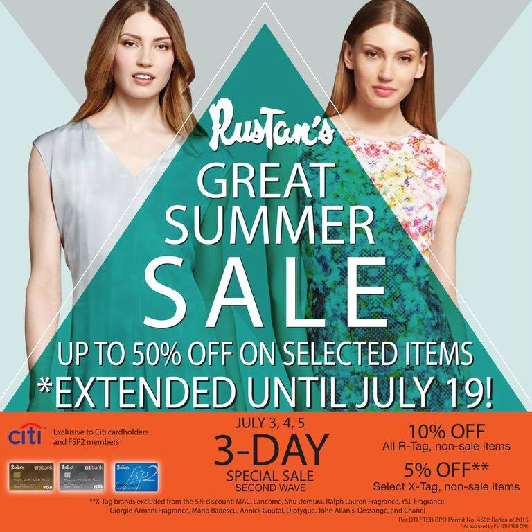 Rustan's Great Summer Sale July 2015