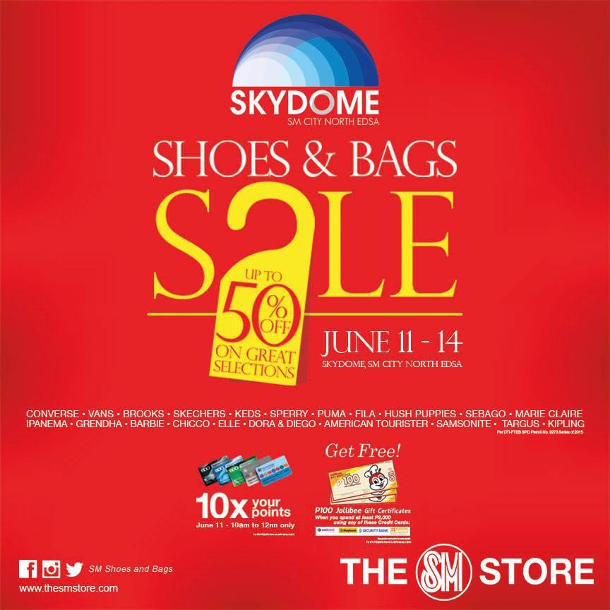 Shoes & Bags Sale @ Skydome SM City North Edsa June 2015
