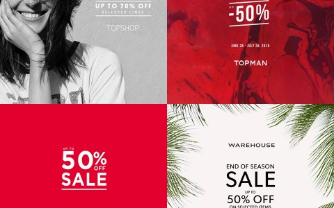 Topshop, Topman, Dorothy Perkins, Warehouse End of Season Sale June - July 2015