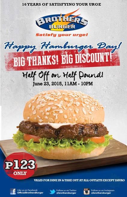 brother burger hamburger dat june 23 2015 poster