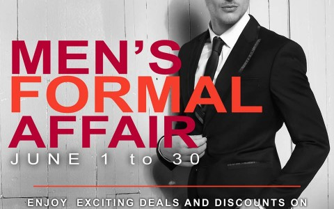 robinsons department store mens formal wear sale june 2015 poster