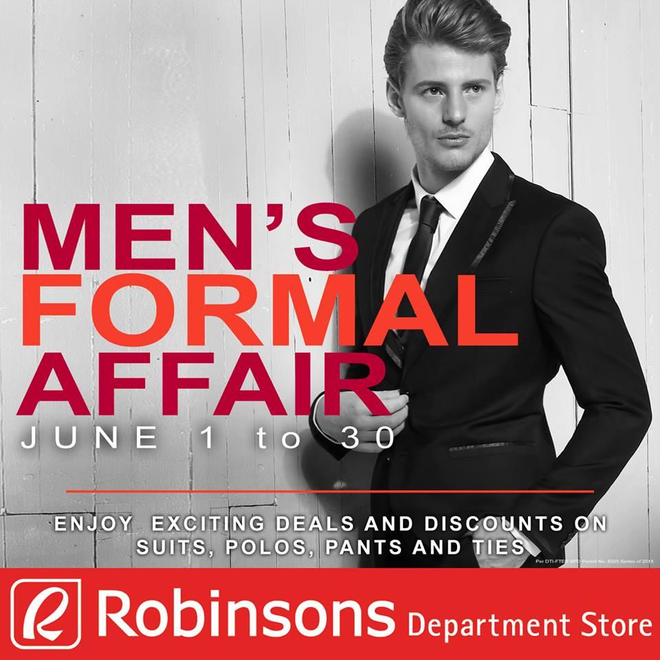 robinsons department store mens formal wear sale june 2015 poster
