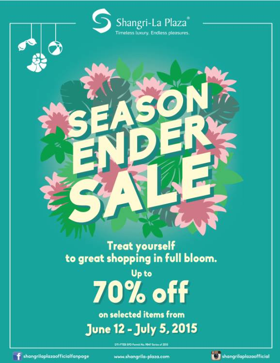 shangri-la plaza mall end of season sale june-july 2015-poster