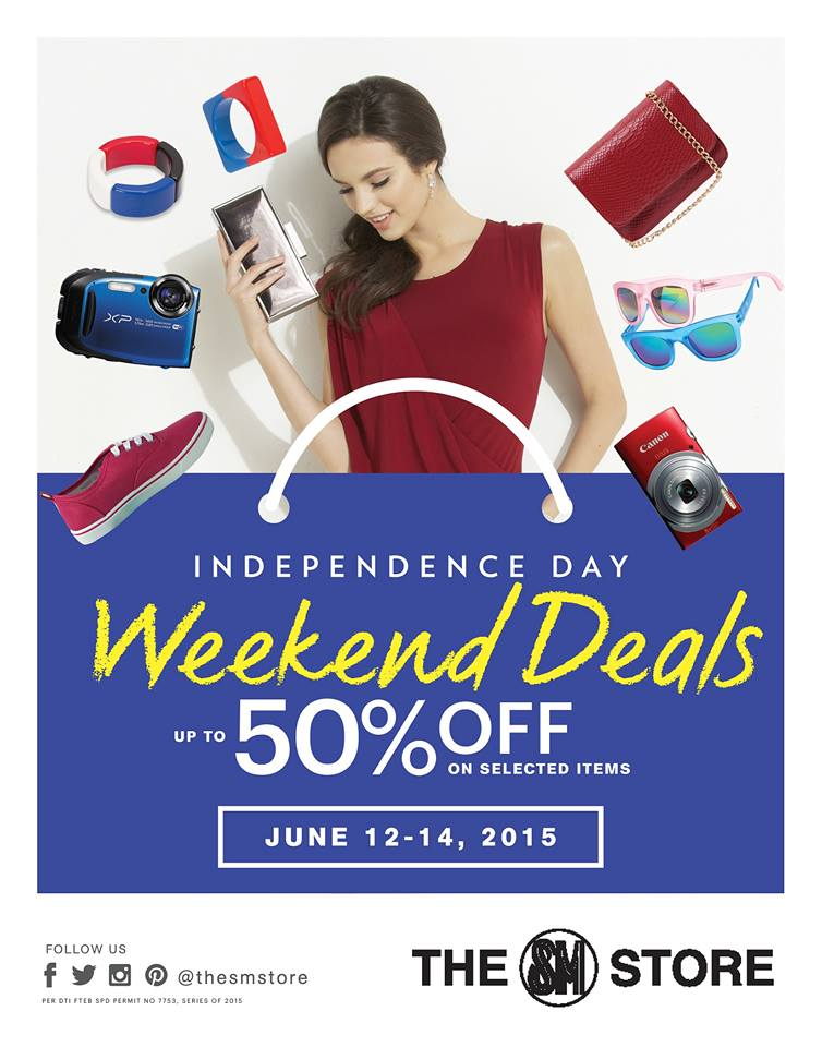 sm stores independence weekend deals 2015 poster
