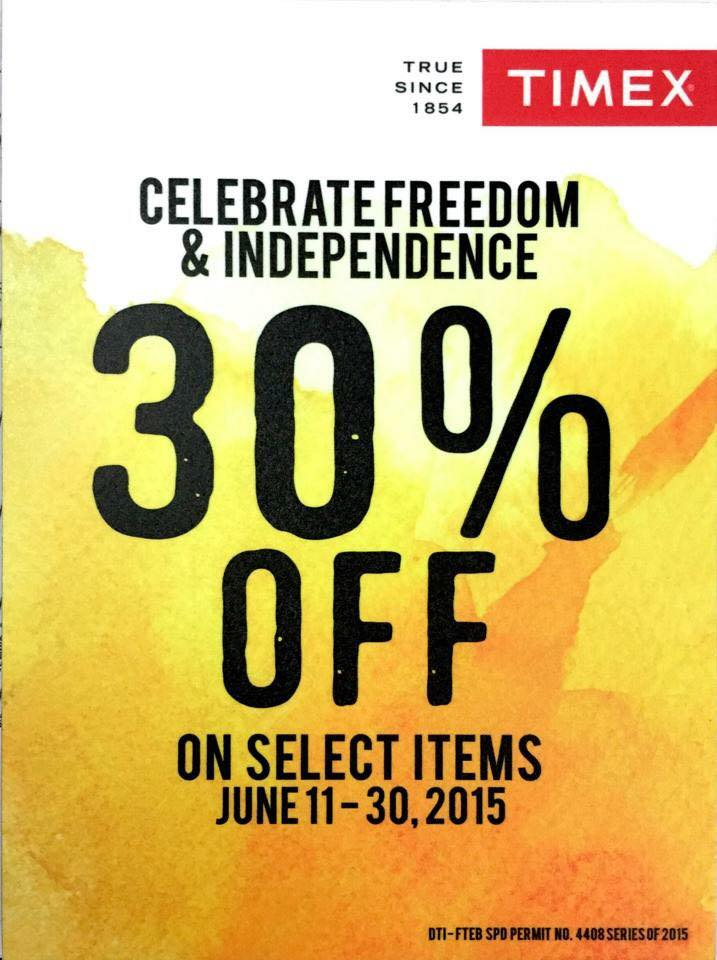 timex independence day sale june 2015 poster