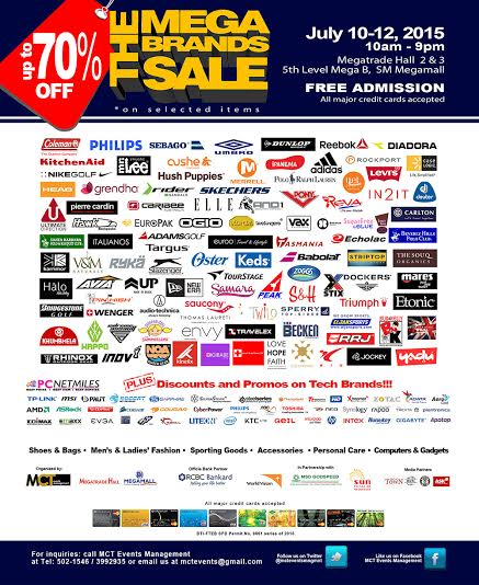 11th MegaBrands Sale @ SM Megatrade Hall July 2015