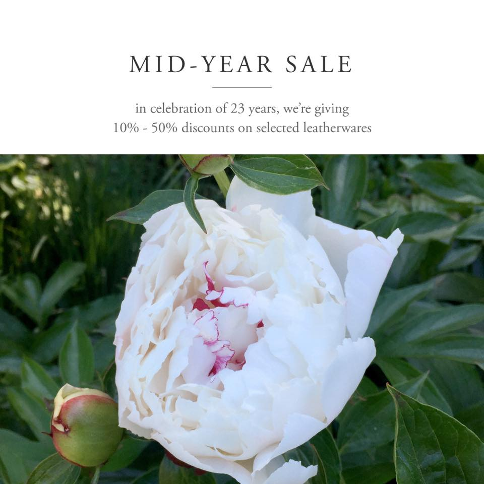 Fino Leatherware Mid-Year Sale July - August 2015
